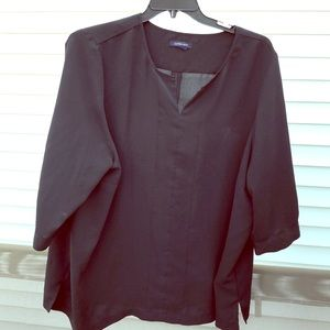 Lands end black blouse